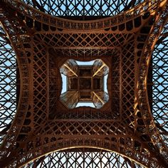 I want to take this picture. I will if it is possible. Someday...Underneath the Eiffel Tower.