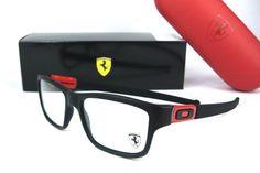 OAKLEY 8034-09 53 MARSHAL *FERRARI* BLACK RED Eyeglasses frame RX Opthalmic #OAKLEY #Rectangular