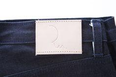 RU DENIM Leather Label. Denim is made from Thai Selvedge from Artistic Denim Mills. 15oz