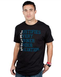 Justifies - Christian Mens Shirts for $14.99 | C28.com
