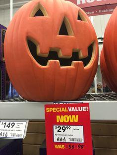 at on stuff Halloween Stuff, Grocery Store, Great Deals, Pumpkin Carving, Lowes, Pumpkin Carvings, Halloween, Lowes Creative, Halloween Prop