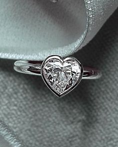 Heart shaped engagement ring, something simple