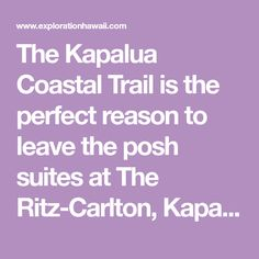 The Kapalua Coastal Trail is the perfect reason to leave the posh suites at The Ritz-Carlton, Kapalua, for a quick outdoor adventure. The Dragon's Teeth are located just beyond the Ritz-Carlton cha. Kapalua Hawaii, Dragon's Teeth, Hedges, Coastal, Trail, Adventure, Outdoor, Outdoors, Living Fence