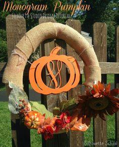 Monogram Pumpkin Silhouette Studio Tutorial submitted to InspirationDIY.com