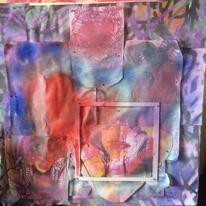 Soulmates Collage , Papper , Sprayfärg   Christina Furtehbach