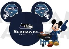 Printable DIY Mickey Mouse Seattle Seahawks by MyHeartHasEars, $5.00