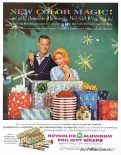 vintage christmas gift ad | Reynolds Aluminum Fol Wrap | Old Christmas ads | Pinterest