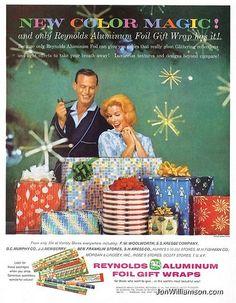vintage christmas gift ad | Reynolds Aluminum Fol Wrap | Old Christmas ads | Pinterest