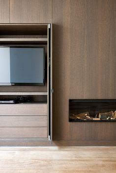 Het Atelier - Interieur (Hooglede, West-Vlaanderen)   Haard/TV/Inbouwinbouwinbouw