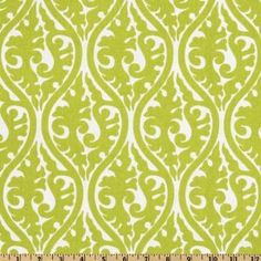 Kimono Chartreuse/White Fabric By The Yard, 54'' Wide Premier Prints, $7.48/yd