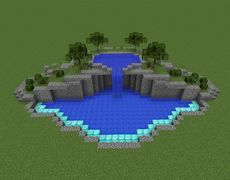 Minecraft Swimming Pool on 2 levels