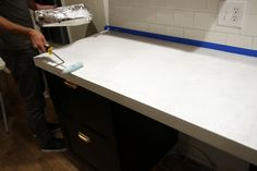 Sealing our White Concrete Countertops | Chris Loves Julia