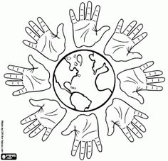 Free printable coloring pages for print and color, Coloring Page to Print , Free Printable Coloring Book Pages for Kid, Printable Coloring worksheet School Coloring Pages, Coloring Pages To Print, Free Printable Coloring Pages, Coloring Book Pages, Coloring Sheets, Hand Coloring, Multicultural Crafts, Harmony Day, International Day Of Peace
