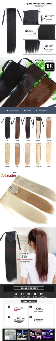 """Alileader Synthetic Hair Products Ponytail Extension Piano Brown Blonde White Black Pony Tail Hair Clip In Fake Ponytails 18"""""""