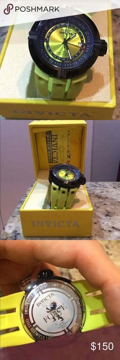 Invicta lime green watch Perfect condition. Any questions please ask. Will take reasonable offers. Invicta Accessories Watches