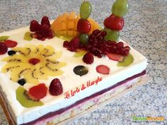 Torta quadro d'autore con chantilly al limoncello  #ricette #food #recipes