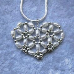 hearts of lily beaded necklace charm
