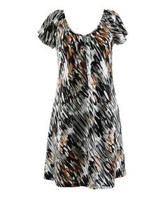 Love this Beechwood Abstract V-Neck Dress - Women by Peppermint Bay on #zulily! #zulilyfinds