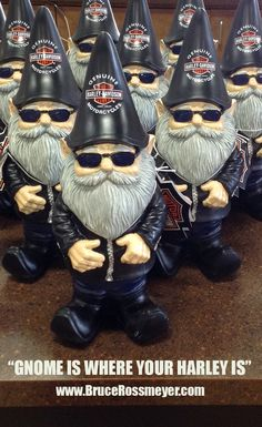 Harley-Davidson Garden Gnomes in stock now!