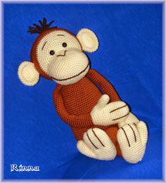 Rinna: Opičák Rudolf Crochet Crafts, Free Pattern, Projects To Try, Teddy Bear, Toys, Craft Ideas, Amigurumi, Animales, Toy