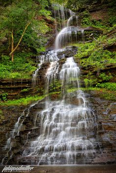 Cathedral Falls, Gauley Bridge, West Virginia by jaki good miller All Nature, Amazing Nature, Beautiful Waterfalls, Beautiful Landscapes, Places To Travel, Places To See, Places Around The World, Around The Worlds, West Virginia