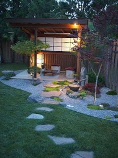 Absolutely beautiful outdoor meditation space Best Picture For modern Zen Garden For Your Taste You are looking for something, and it is going to tell you exactly wh Yoga Garden, Meditation Garden, Meditation Space, Zen Garden Design, Japanese Garden Design, Japanese Style, Outdoor Rooms, Outdoor Gardens, Zen Gardens