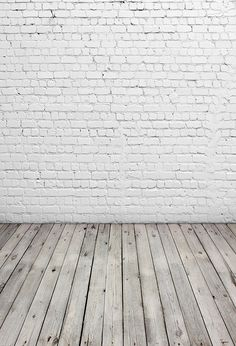 Amazon.com : 5x7ft White Brick Wall Photography Backdrop Light Grey Wood Floor Photo Backgrounds for Children CCWY29 : Camera & Photo