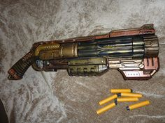 NERF handpainted STEAMPUNK dOOMLANDS by SteamPunkLabratory on Etsy