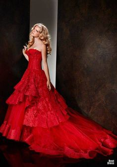 Fabulous red - would make an amazing wedding dress if you wanted to be different xx