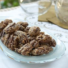 Spiced Pecans from MyRecipes.com - great for holiday gift giving but save some for yourself!  Double Yum!