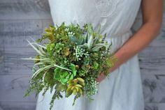 Succulent Bouquet // Faux Succulents by KariBakerDesigns on Etsy