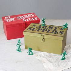 could use the top secret one as a personal items box, to prevent sticky fingers
