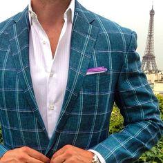 Summer Jacket | Men's Fashion | Menswear | Men's Outfit for Weddings | Moda Masculina | Shop at DesignerClothingFans.com