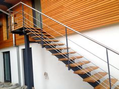 Outside Stairs Design, Staircase Design, Fence Wall Design, Outdoor Stairs, Porche, Garage Apartments, Beach Gardens, Black Wallpaper, Stairways