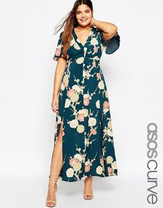 Image 1 of ASOS CURVE WEDDING Maxi Dress In Blossom Floral Print