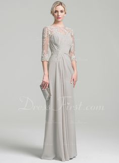 A-Line/Princess Scoop Neck Floor-Length Ruffle Zipper Up Sleeves Sleeves No Other Colors General Plus Chiffon Mother of the Bride Dress Hijab Wedding Dresses, Mob Dresses, Gala Dresses, Formal Dresses For Women, Simple Dresses, Beautiful Dresses, Fashion Dresses, Bridesmaid Dresses, Bride Dresses