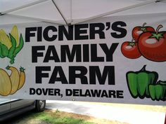 Ficner Farms - Dover, DE  Our farm offers fresh fruits and vegetables for sale on the farm and at four farmers markets throughout Delaware. http://ficnerfarm.com/, http://www.facebook.com/pages/Ficner-Farm/113961738640627 #delawarefarms #buyfresh #doverde