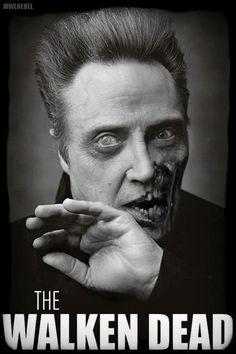 The Walken Dead. #christopherwalken #zombie