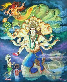 India Painting, Silk Painting, Mural Painting, Cute Krishna, Krishna Art, Cambodian Art, World Mythology, Thailand Art, Spiritual Images