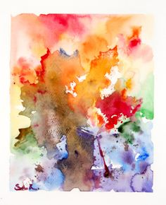 Original Watercolor Painting Fine Art Print. Abstract by SophieRR, $20.00