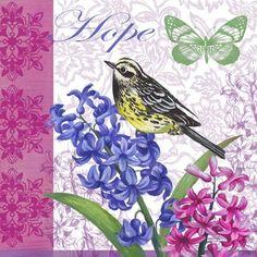 Birds and Flowers-Hope By Elena Vladykina