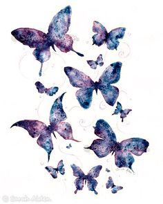 Butterfly Watercolor Art  Fantasy Print  by ForeverFairy on Etsy, $8.00