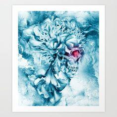 frozen skull by riza peker