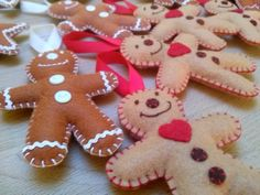 Christmas felt decorations by DusiCrafts