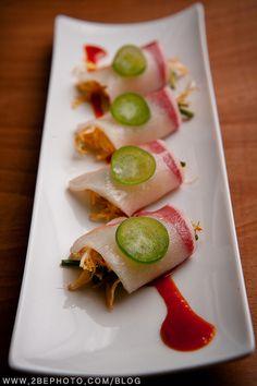 Spicy yellowtail sashimi, with gochujang, a spicy Korean sauce! #Korean #Food