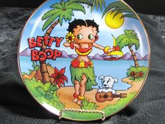 Franklin Mint Franklin Mint, Betty Boop, Painted Porcelain, Dishes, China Painting