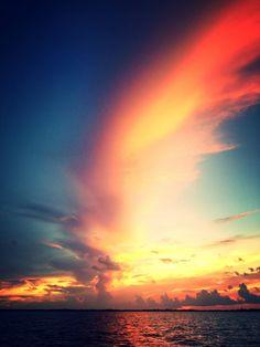Sunset over Cudjoe Bay in the Lower Keys.  Photo by Kim Workman.