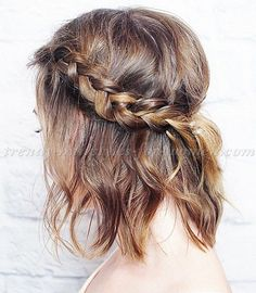 medium hairstyle with braid