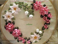 Wonderful Ribbon Embroidery Flowers by Hand Ideas. Enchanting Ribbon Embroidery Flowers by Hand Ideas. Rose Embroidery, Learn Embroidery, Silk Ribbon Embroidery, Embroidery Stitches, Embroidery Patterns, Embroidery Bracelets, Cross Stitches, Ribbon Art, Ribbon Crafts