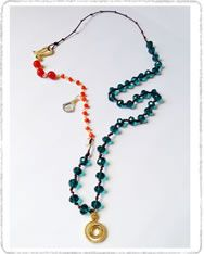 Cho179 Collar cristal espiral